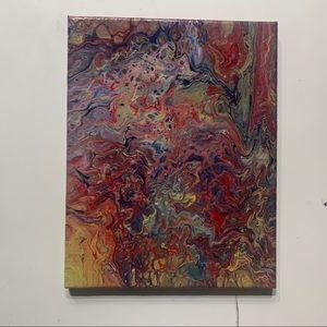 """Skateboard"" Original Pour Painting on canvas"